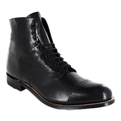 Stacy Adams® Madison Mens Cap Toe Lace Up Leather Dress Boots
