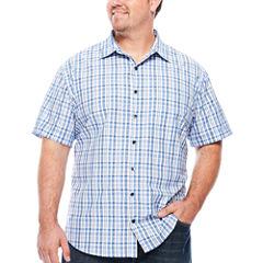 Van Heusen Short Sleeve Button-Front Shirt-Big and Tall