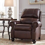 Signature Design by Ashley® Glengary Leather Roll-Arm Recliner