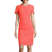 DR Collection Short-Sleeve Lace Sheath Dress