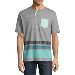 Distortion Short Sleeve Round Neck T-Shirt