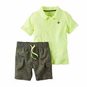 Carter's® 2-pc. Camo Polo and Shorts Set - Baby Boys newborn-24m