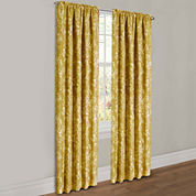 Parrish Floral Lined 2-Pack Rod-Pocket Curtain Panels