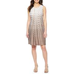 Perceptions Sleeveless Shift Dress