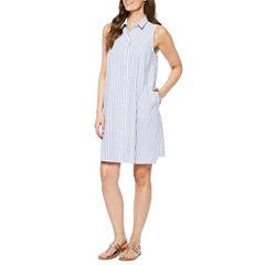 Jessica Howard Sleeveless Shirt Dress