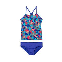 Nike Girls Geometric Tankini Set - Big Kid