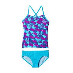 Nike Girls Logo Tankini Set - Big Kid