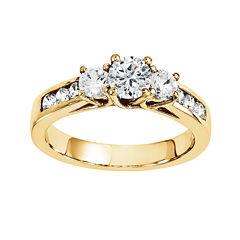 1 3/4 CT. T.W. Diamond 14K Yellow Gold 3-Stone Ring