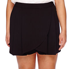 Boutique+ Wrap-Front Skort - Plus