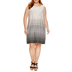 Perceptions Sleeveless Knit Sundress-Plus