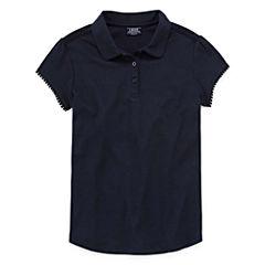 Izod Exclusive Short Sleeve Solid Polo Shirt - Big Kid Girls Plus