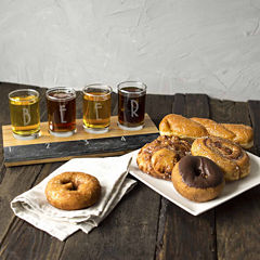 Personalized Bamboo & Slate Craft Beer Flight Tasting Set
