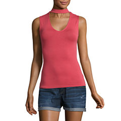 City Streets Knit Tank Top-Juniors