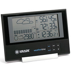 Meade Instruments TE636W Slim Line Personal Weather Station with Atomic Clock and Time/Pressure/Temperature
