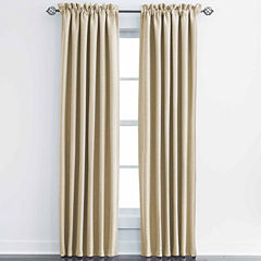 JCPenney Home Made-To-Length Textured Blackout Rod-Pocket Unlined Curtain Panel