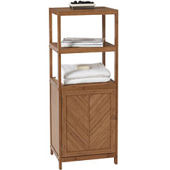 Creative Bath™ Eco Styles Bamboo 3-Shelf Tower with Cabinet