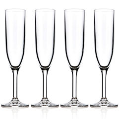 Drinique Unbreakable Elite Set of 4 Champagne Flutes