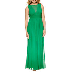 Blu Sage Sleeveless Evening Gown-Petites