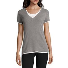 Made For Life Short Sleeve V Neck T-Shirt-Talls