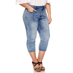Bisou Bisou Skinny Fit Cropped Jeans-Plus