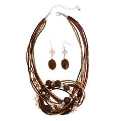 Mixit Womens 2-pc. Brass Jewelry Set