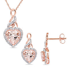 Womens 2-pc. 1/5 CT. T.W. Pink Morganite 10K Gold Jewelry Set