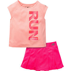 New Balance Girls 2-pc. Skort Set