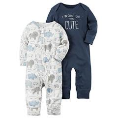 Carter's Boy 2-pk. Long Sleeve Jumpsuits - Baby