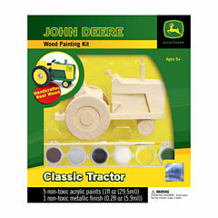 Masterpieces Puzzles John Deere Wood Painting Kit- Classic Tractor