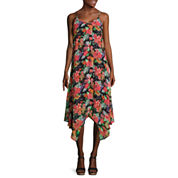 Decree® Strappy Handkerchief Dress - Juniors Plus