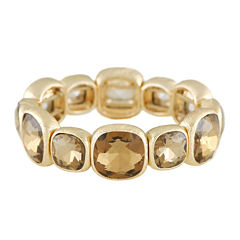 Monet® Brown Stone Gold-Tone Stretch Bracelet