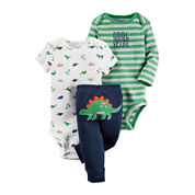 Carter's® 3-pc. Dinosaur Layette Set - Baby Boys newborn-24m