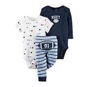 Carter's® 3-pc. Football Layette Set - Baby Boys newborn-24m