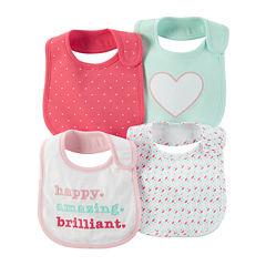 Carter's® 4-pk. Pink Geometric Bibs - Baby Girls newborn-24m