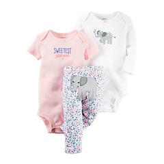 Carter's® 3-pc Elephant Layette Set - Baby Girls newborn-24m