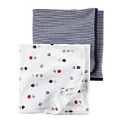 Carter's® 2-pk. Navy Sports Swaddle Blankets - Baby Boys newborn-24m