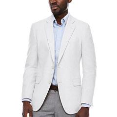 Stafford Linen Cotton White Sport Coat-Slim