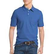 IZOD® Short-Sleeve Solid Chatham Pocket Polo Shirt