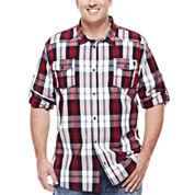 i jeans by Buffalo Milton Long-Sleeve Plaid Cotton Shirt - Big & Tall