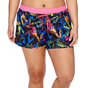 City Streets® Woven Pull-On Shorts - Juniors Plus