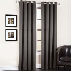 Sun Zero Garrett Grommet-Top Curtain Panel