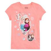 Disney Collection Short-Sleeve Frozen Cast Graphic Tee - Girls