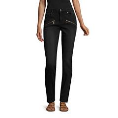 Nicole By Nicole Miller Zip Detail Skinny Jeans
