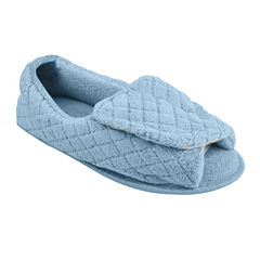 MUK LUKS® Adjustable Open Toe Micro Chenille Slippers