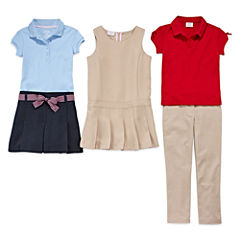 IZOD® Picot Polo, Ribbon-Belted Scooter, Bow-Sleeve Polo, Jumper or Skinny Pants