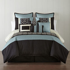 Home Expressions™ Carter 10-pc. Comforter Set & Accessories
