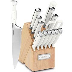 Cuisinart® Classic 15-pc. White Triple Rivet Cutlery Block Set