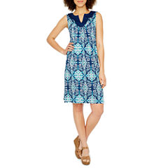 St. John's Bay Sleeveless Embroidered Sundress