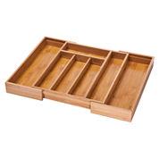 Honey-Can-Do® Expandable Bamboo Cutlery Tray