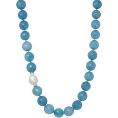 ROX by Alexa Genuine Aquamarine Beaded Necklace